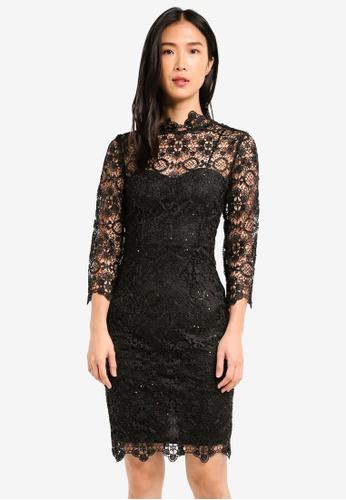Paper Dolls black Long Sleeve Lace Dress PA721AA0SHXRMY_1