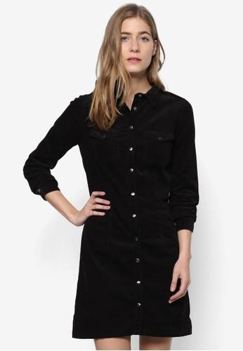 直排鈕襯衫連身裙, esprit retail服飾, 洋裝