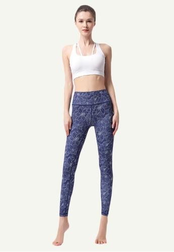 B-Code blue ZYG5036B-Lady Quick Drying Running Fitness Yoga Sports Leggings-Blue D6037AA3A8B0EBGS_1