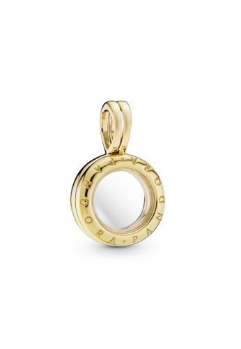 PANDORA gold Pandora Lockets Logo Dangle Charm 51DD8ACAC1DED4GS_1