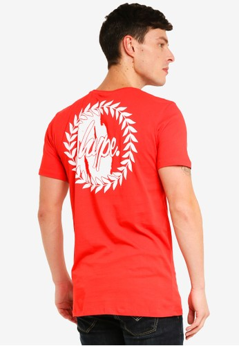 Just Hype red and multi Back Crest T-Shirt 0E716AA81ECFB2GS_1