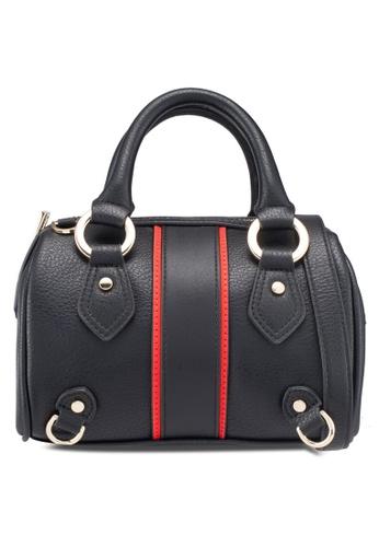 bb370ac4a30a TOPSHOP black Stripe Mini Bowler Bag 565EAAC793C613GS 1