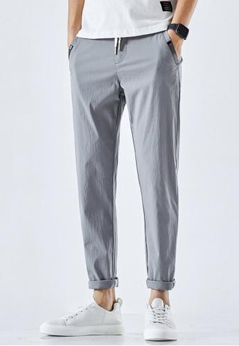 Trendyshop grey Slim Casual Pants 9C274AA1219D4BGS_1