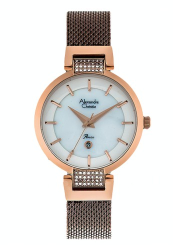 Alexandre Christie gold and brown Alexandre Christie Jam Tangan Wanita - Rosegold Brown - Stainless Steel - 2740 LDBROSL FEDE3AC32270CEGS_1