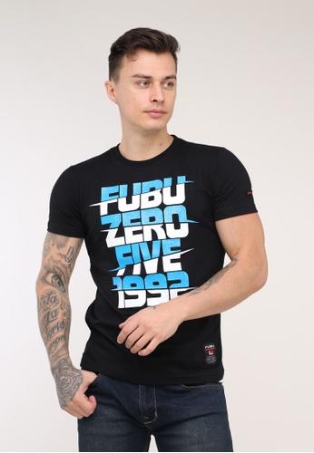 Fubu Boys black Round Neck Muscle Fit T-Shirt 92CA8AA539EFF4GS_1