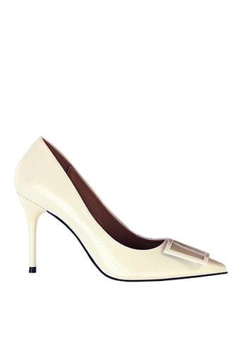 Twenty Eight Shoes white Square Buckled Heels VL17851 E737FSHD62C6C5GS_1