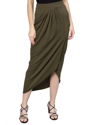 SASSAFRAS green Olive Tulip Skirt 181A0AAA307298GS_1