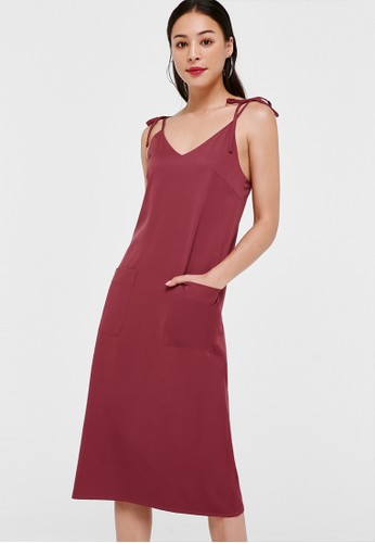 Love, Bonito red Whitney Ribbon Tie Camisole Dress 27242AAC066ED2GS_1
