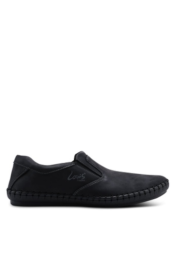 Louis Cuppers black Sewn Slip Ons 3934CSH6F29010GS_1