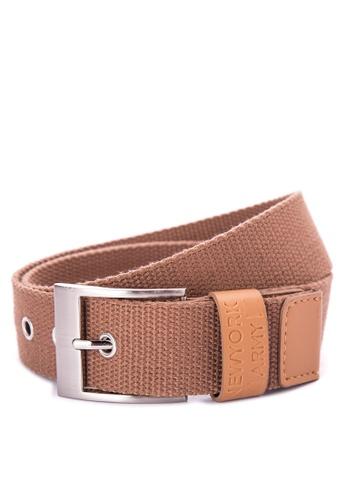 Greatvalueplus brown Newyork Army Men's Casual  Belt 5C243AC4F4094FGS_1