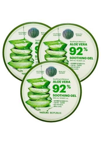 NATURE REPUBLIC Bundle 3 - Soothing & Moisture Aloe Vera 92% Soothing Gel 300ml 923E4BE5B0D9E5GS_1