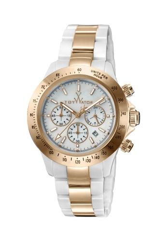 ToyWatch white ToyWatch TYCHMC07WHPG Quartz Chronograph Date Ceramic (Women Watch) 617F2AC48C3931GS_1