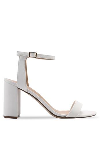 c4477fefcd Dorothy Perkins white White 'Shimmer' Block Heel Sandals 31FD5SHBEB1FE1GS_1