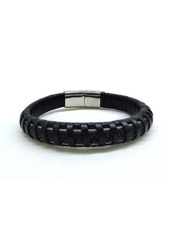Her Jewellery black Elliot Bracelet 37D71ACB20F7EFGS_1