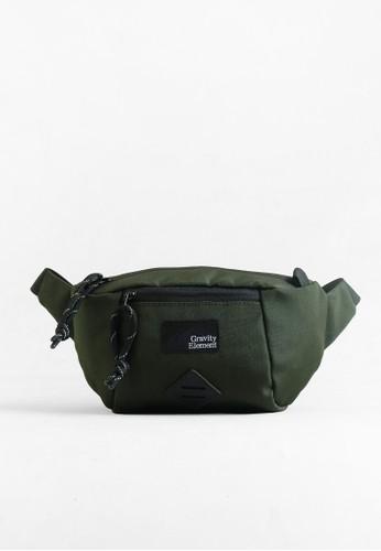"Gravity Element green Green ""Trip"" Small Sling Bag GR581AC0UPZLID_1"