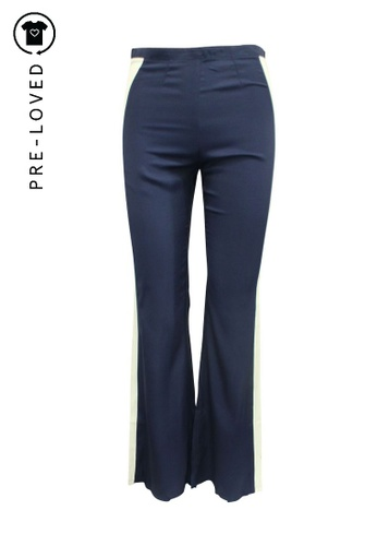 Reformation blue Pre-Loved reformation Blue Navy Pants with Straps 0D0C8AAE34D6C5GS_1