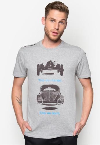 汽esprit tw車圖案文字Tee, 服飾, 印圖T恤
