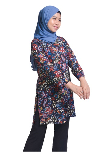 Imaan Boutique black Flared Blouse Black Raven 2C194AA317993BGS_1