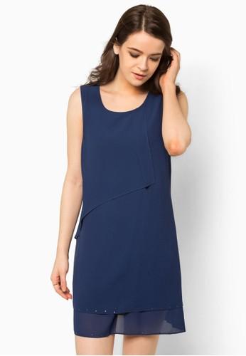 褶zalora 心得飾層次連身裙, 服飾, 洋裝