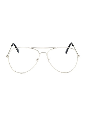 Elitrend silver Metal Pilot Glasses with Silver Frame 6D5CFGLCE4E549GS_1