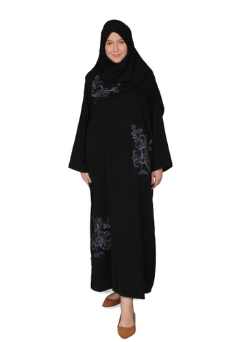 Bait Al Hijaab black ONE-OF-A-KIND EMBROIDERED ABAYA 39861AABC900D9GS_1