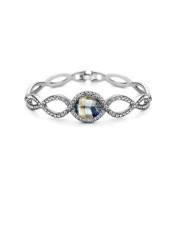 Glamorousky silver Elegant Blue Crystal Bangle A32A6AC9A77373GS_1