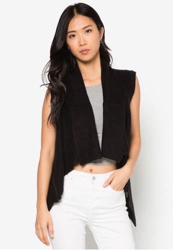 Emma 不對稱esprit台北門市下擺針織外套, 服飾, 服飾