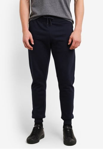 Burton Menswear London 海軍藍色 Navy Slim Fit Joggers BU964AA0SHO6MY_1