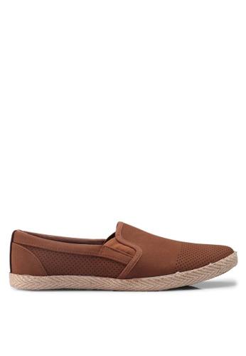 Burton Menswear London brown Tan Suede Look Sport Plimsolls Slip On F64D4SH66F7DB0GS_1