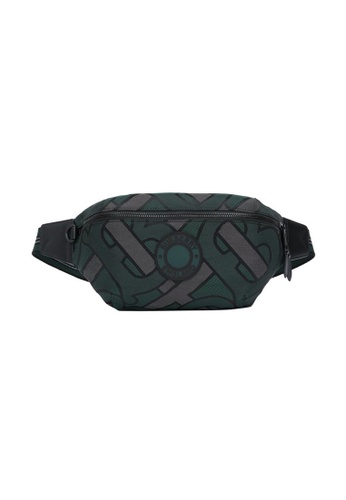 Burberry green Burberry Monogram Recycled Polyester Sonny Waist Bag in Forest Green for UNISEX 5C85BAC977EFC6GS_1