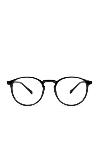 ASLLY black Nix's Dinner│Anti-blue light glasses with black round frame 5E4C9GLD8D9725GS_1