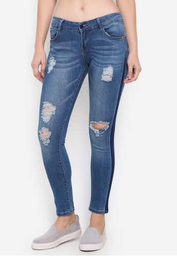 Balaynor blue Fashion Skinny Denim Distressed Jeans 235B1AA7C00CACGS_1