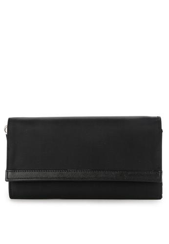 LOLINI black Dona Satin Wallet A979CACEDAEF50GS_1