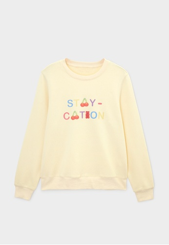 Pomelo beige Haribo Long Sleeve Sweatshirt - Cream F428CAAC54DB47GS_1