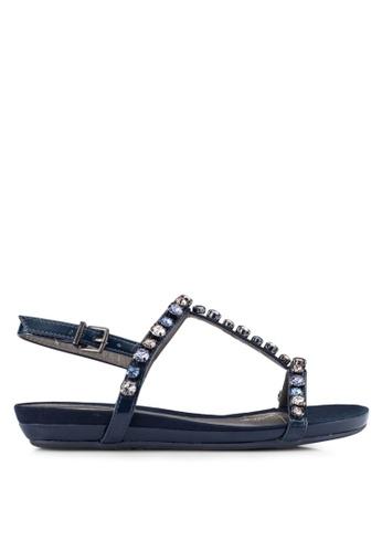 Kenneth Cole New York navy LOST CATCH - Ankle Strap Sandal  KE615SH0RMMQMY_1