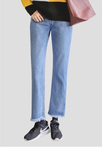 藍色直筒牛仔褲, 服飾, 多色牛zalora開箱仔褲
