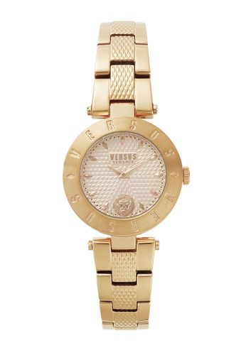 Versus gold Versus New Logo VES77130017 IP Rose Gold Stainless Steel Bracelet Champagne Dial Ladies Watch VE464AC17TLIMY_1