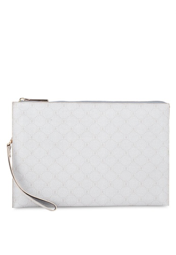 Playboy white Faux Leather Clutch Bag 9763AAC3BBCD39GS_1