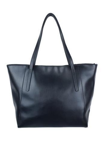 BELLE LIZ black Lovely Large Ladies Leather Tote Bag Black F2AD9AC01108AFGS_1