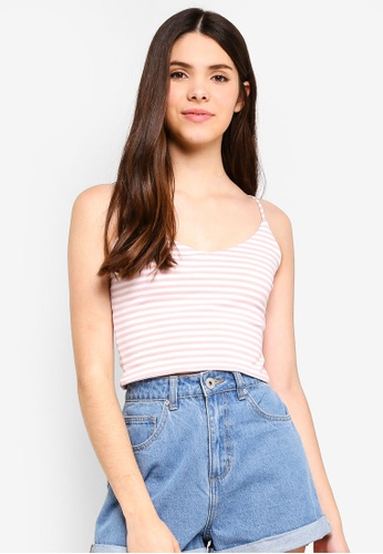 Supre pink Hayley V Neck Cropped Top FF6DEAAA9FBD5BGS_1