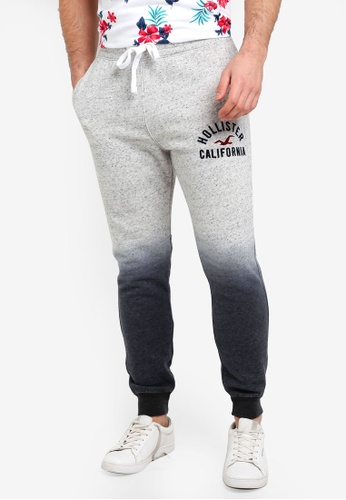 Hollister 灰色 Ombre Logo Joggers BFD00AA2FCDAC0GS_1