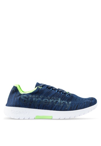 Superdry navy Superknit Sprint Trainers 98526SH2B2E070GS_1
