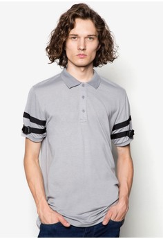 Polo With Sleeve Buckle