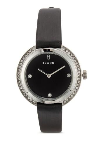esprit outletAGNIS水鑽皮革圓錶, 錶類, 飾品配件