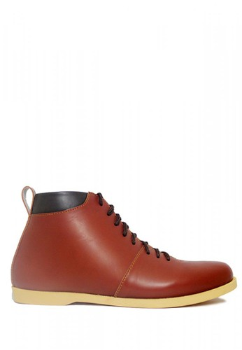 D-Island brown D-Island Shoes Bizarre Casual Leather Brown DI594SH40NRVID_1