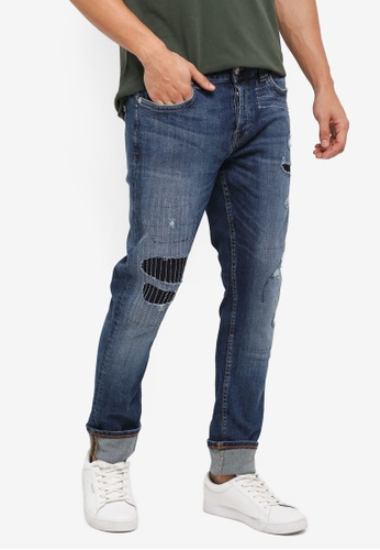 Only & Sons blue Spun Blue Patch 9189 F1F13AA7124A46GS_1