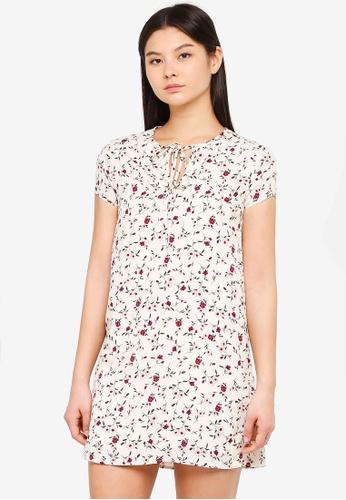 Something Borrowed white Tie Detail Shift Dress 1B601AA5B41C46GS_1