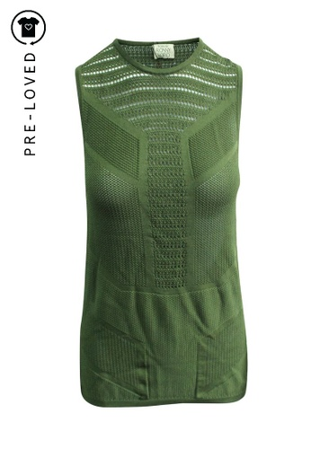 Ronny Kobo green Pre-Loved ronny kobo Sleeveless Knitted Top 6C480AA1D17178GS_1