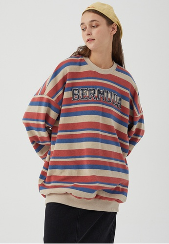 Twenty Eight Shoes Loose-Fitting Embroidered Stripe Long T-shirt HH0932 E9CD1AAD3D70F0GS_1