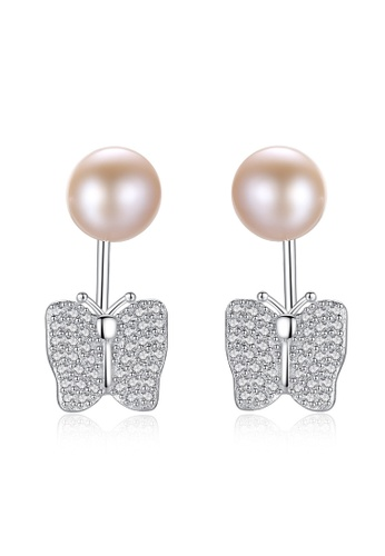 A.Excellence purple Premium Purple Pearl Elegant Earring 2C5F9ACD62C7CAGS_1